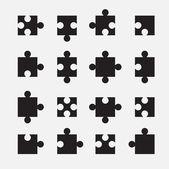 Puzzle set — Stock Vector