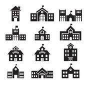 学校建筑图标 — 图库矢量图片
