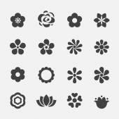 Icona fiore — Vettoriale Stock