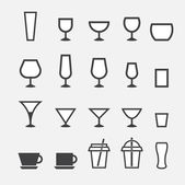 Glass and cup icon — Stok Vektör