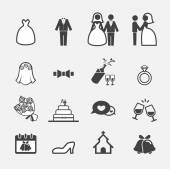 Wedding icon — Stock Vector