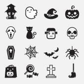 Iconos de halloween — Vector de stock