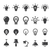 Lamp icon — Stock Vector