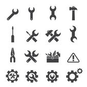 Tool icon set — Vector de stock