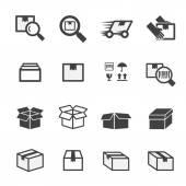 Box icon set — Stock Vector