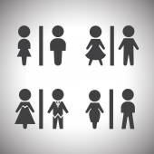 Toilet signs — Stock Vector