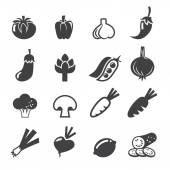 Vegetables icon set — Stock Vector