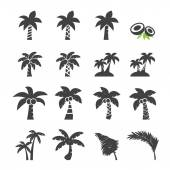 Coconut tree icon — Stock Vector