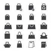 Bag icon set — Stock Vector