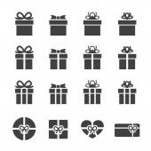 Gift box icon — Stock Vector
