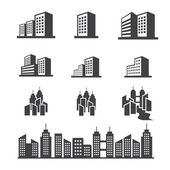 Edificio icona — Vettoriale Stock