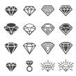 Diamond icon set — Stock Vector #61609599
