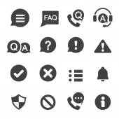 Information and notification icon — Vettoriale Stock