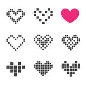 Icono del corazón — Vector de stock