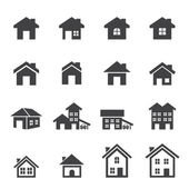 символ дома установлен — Cтоковый вектор