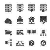 FTP & Hosting Icons  — Stock Vector