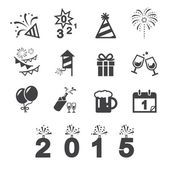 Happy new year icon — Stock Vector