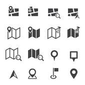 Map icon — Stock Vector