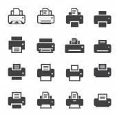 Print  icon set — Vetor de Stock