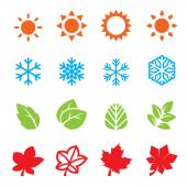 Season icon set — Stock Vector