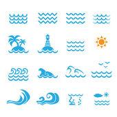 Sea icon — Stock Vector
