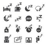 Sleeping icon — Stock Vector #63194309