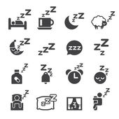 Sleeping icon — Stock Vector