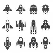 Rocket icon set — Stock Vector