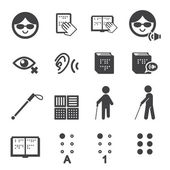Blind man icon — Stock Vector