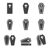 Casket icon — Stock Vector