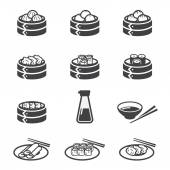 Dim sum icon — Stock Vector