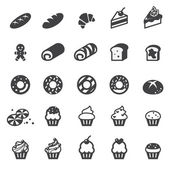 Bakery icon set — Stock Vector