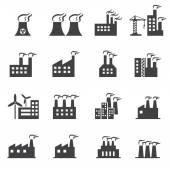 Industrial building icon — Stock Vector