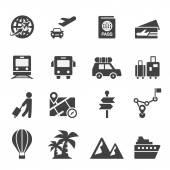 Путешествия значок — Cтоковый вектор
