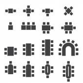 Chair icon set — Stok Vektör