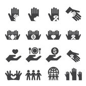 Charity icons set — Stock Vector