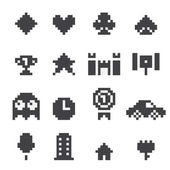 8 bit  icons set — Stock Vector