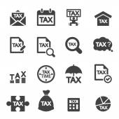 Tax icon set — Stock Vector
