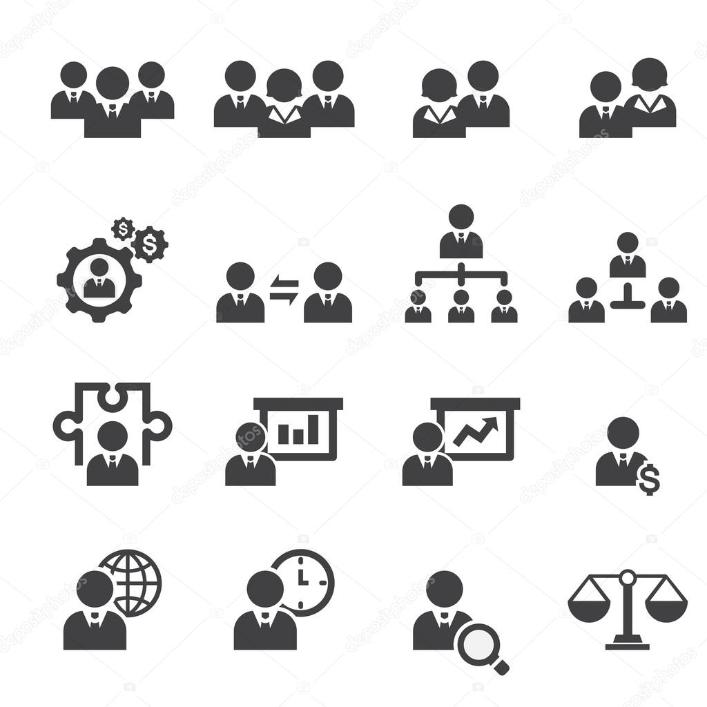 Management icon set — Stock Vector © jacartoon #66246025