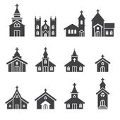 Church building icon — Stock Vector
