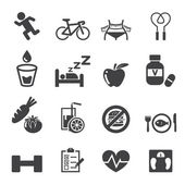 Health icon set — Stock Vector