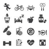 Set di icone di salute — Vettoriale Stock