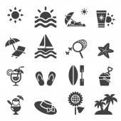 Icono de verano — Vector de stock