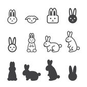Bunny icon — Stock Vector