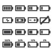 Batterij-icoon — Stockvector