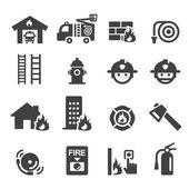 Fire department icon — Vector de stock