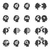 Head concept icon — Stock Vector