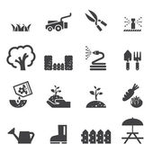 Lawn icon set — Vettoriale Stock
