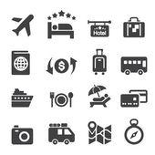 Travel icon set — Stock Vector