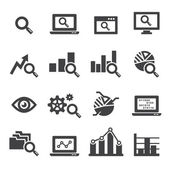 Analysis icon set — Vector de stock